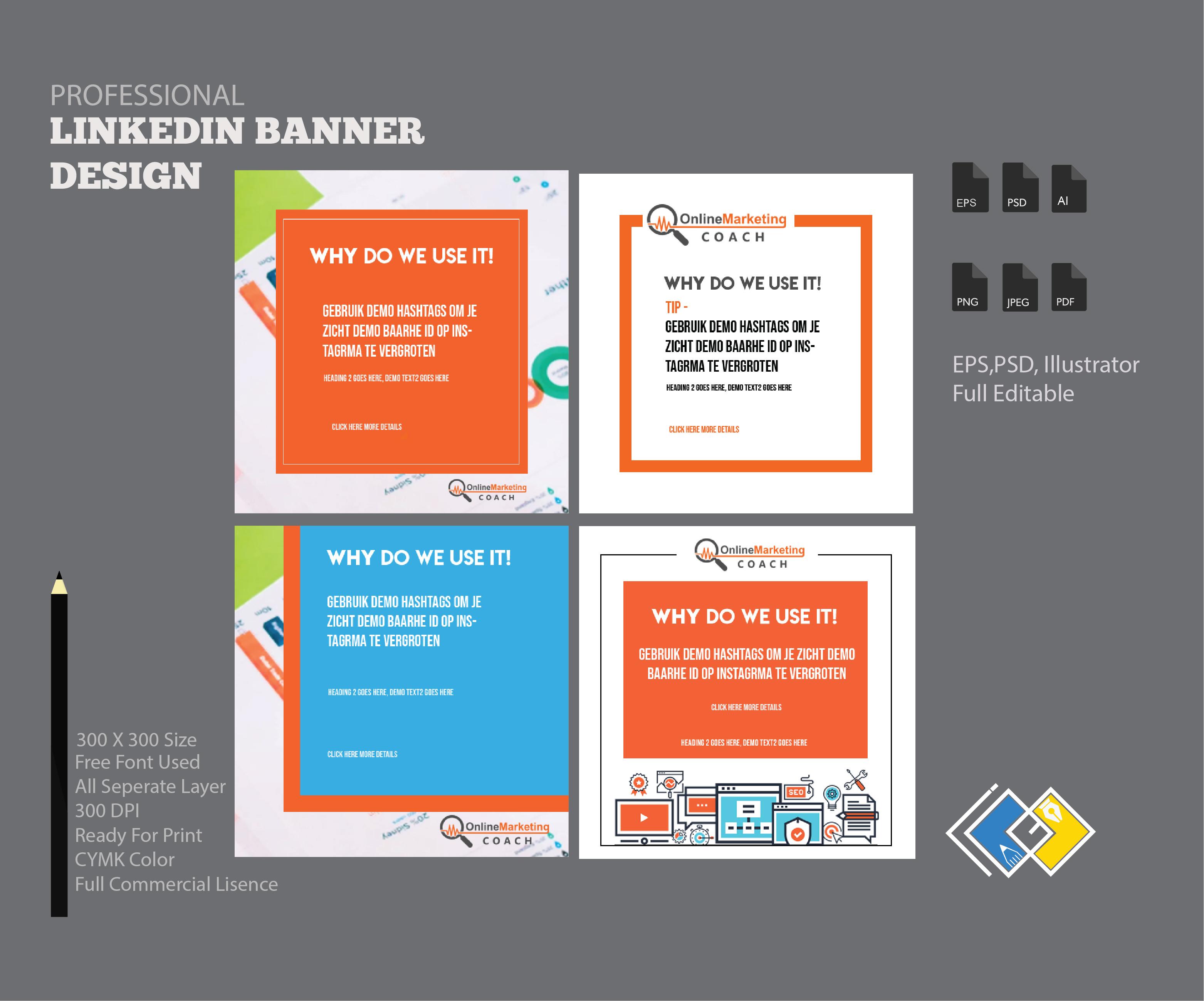 Linkedin Cover Design Service Linkedin Banner Design